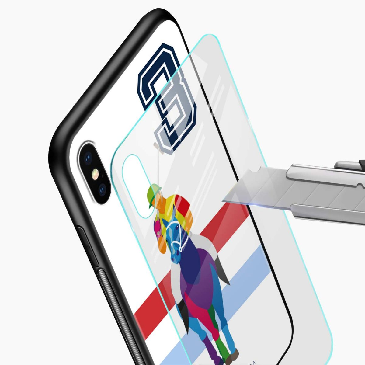 multicolor sant barbara polo glass view apple iphone x xs max back cover