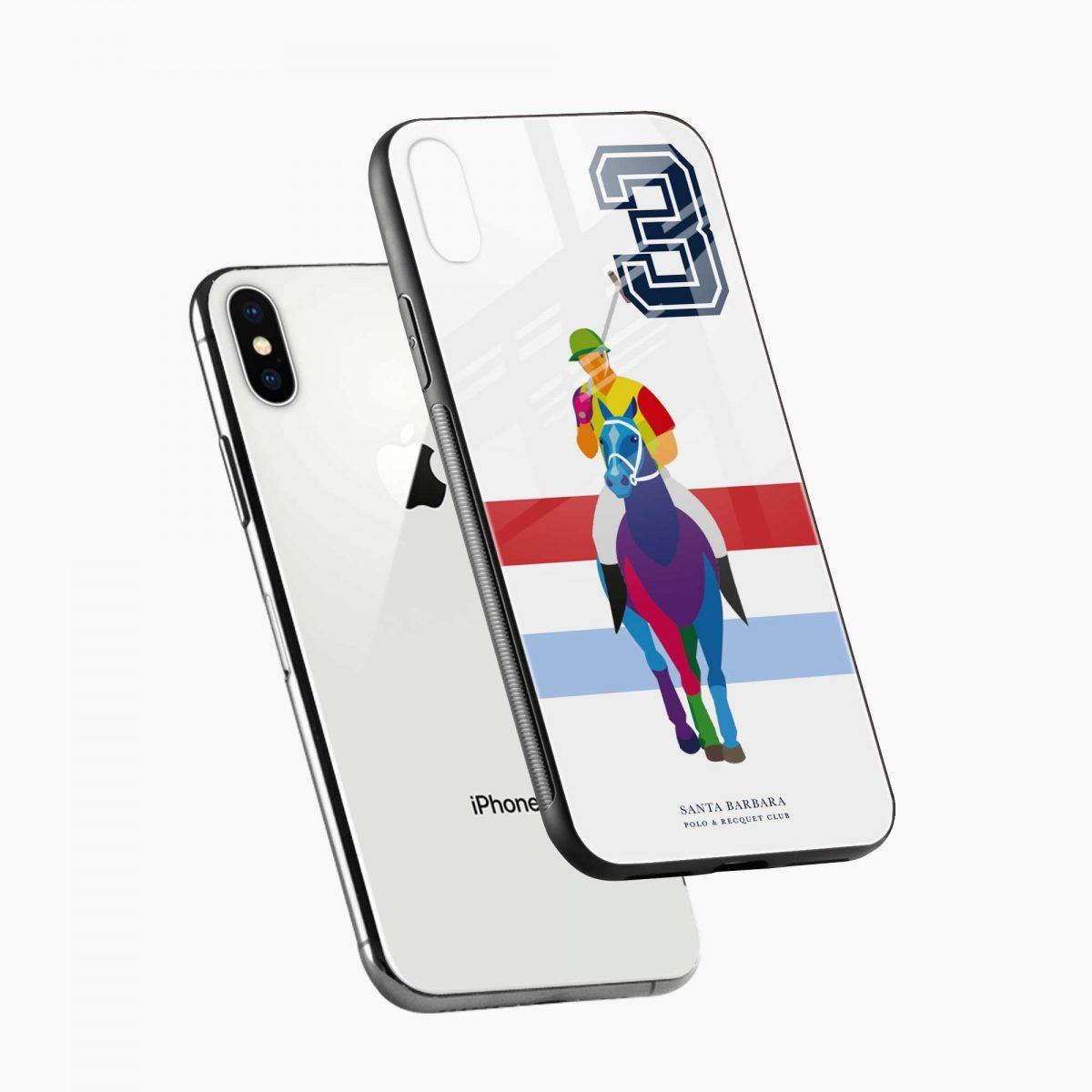 multicolor sant barbara polo diagonal view apple iphone x xs max back cover