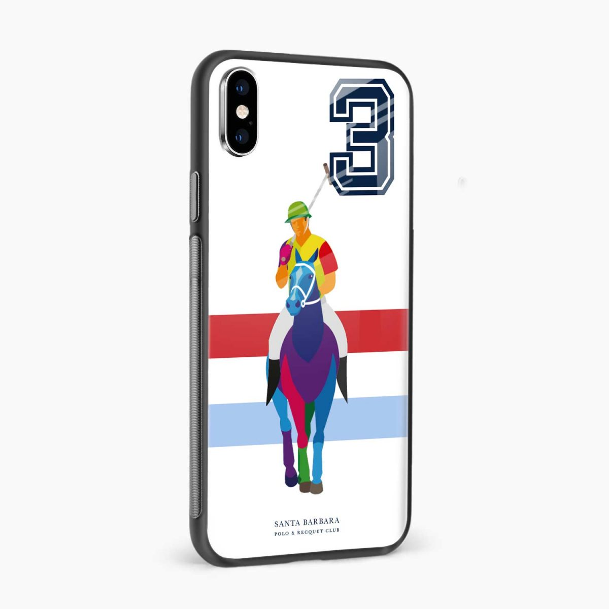 multicolor sant barbara polo side view apple iphone x xs max back cover