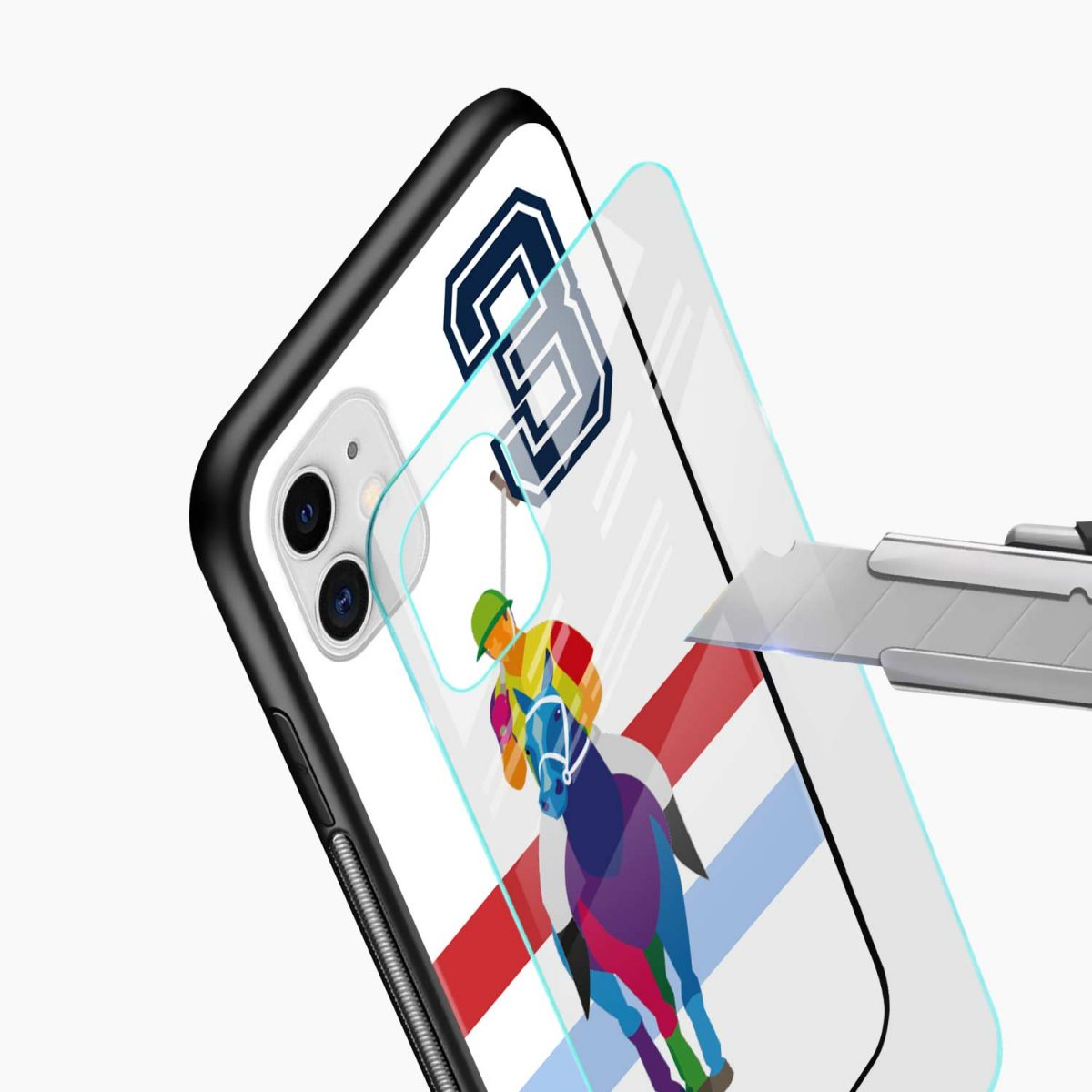 multicolor sant barbara polo iphone back cover glass view