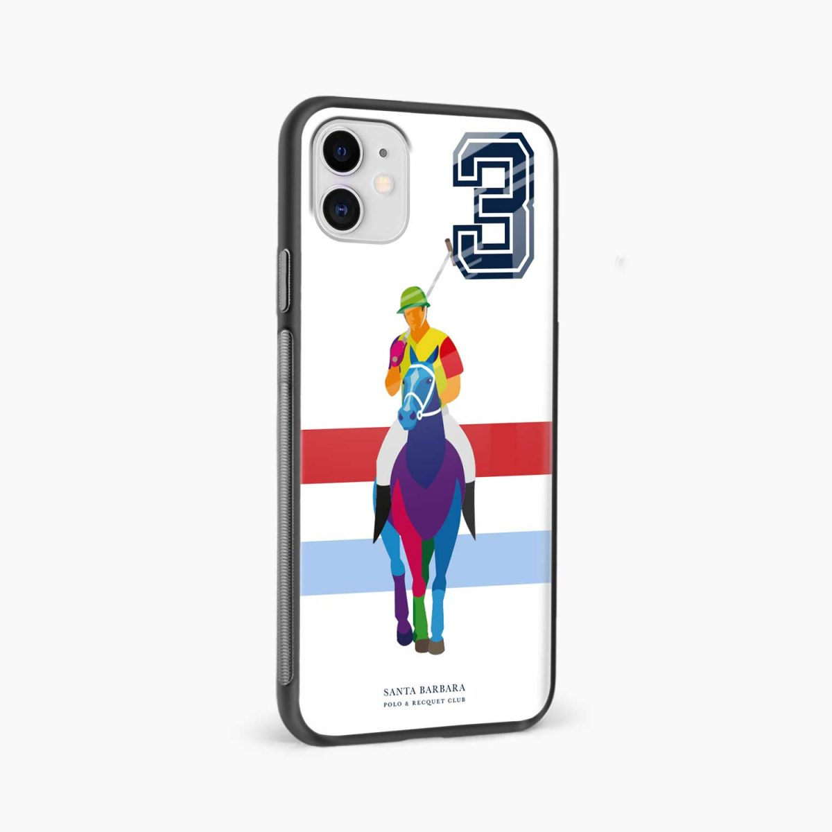 multicolor sant barbara polo iphone back cover side view