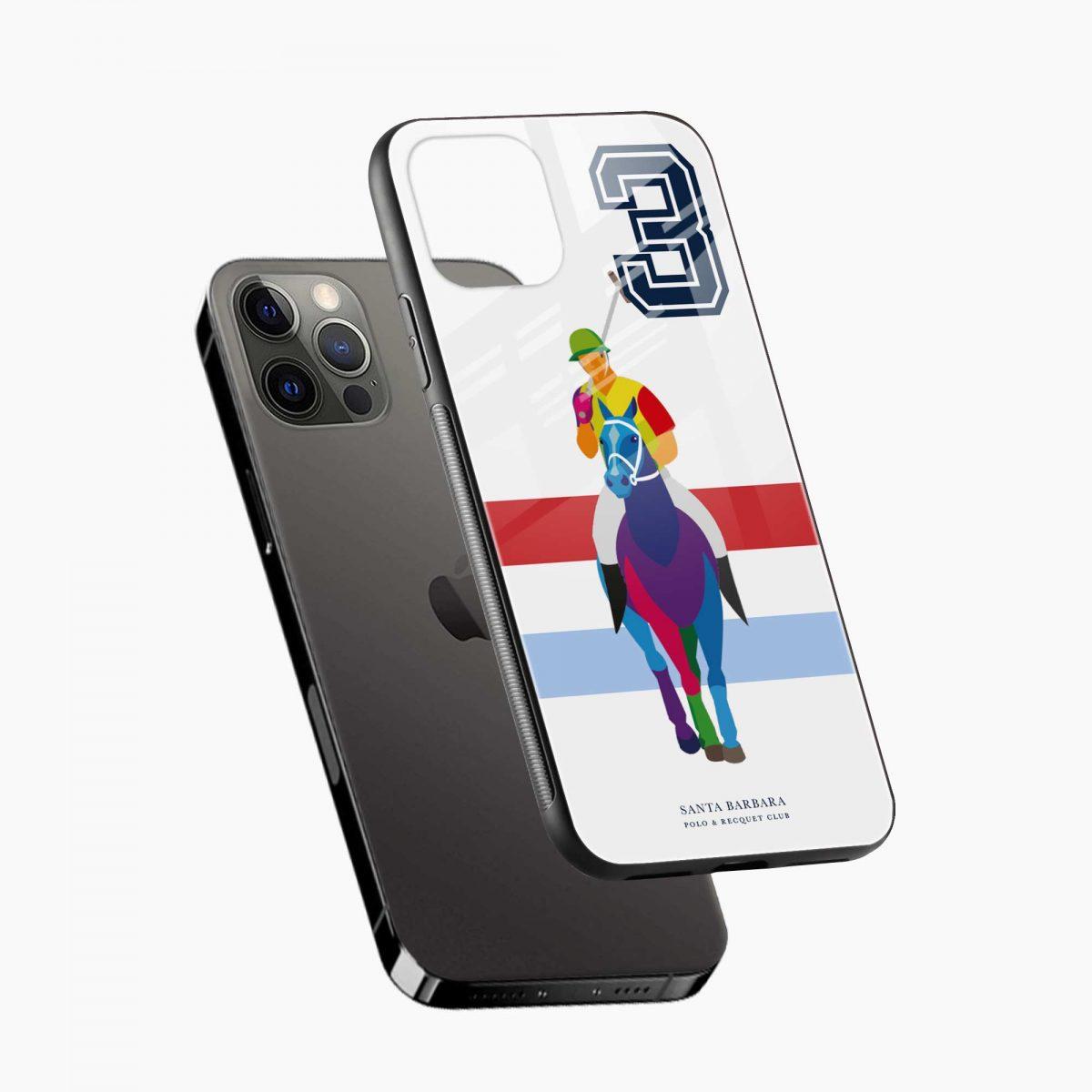multicolor sant barbara polo iphone pro back cover diagonal view