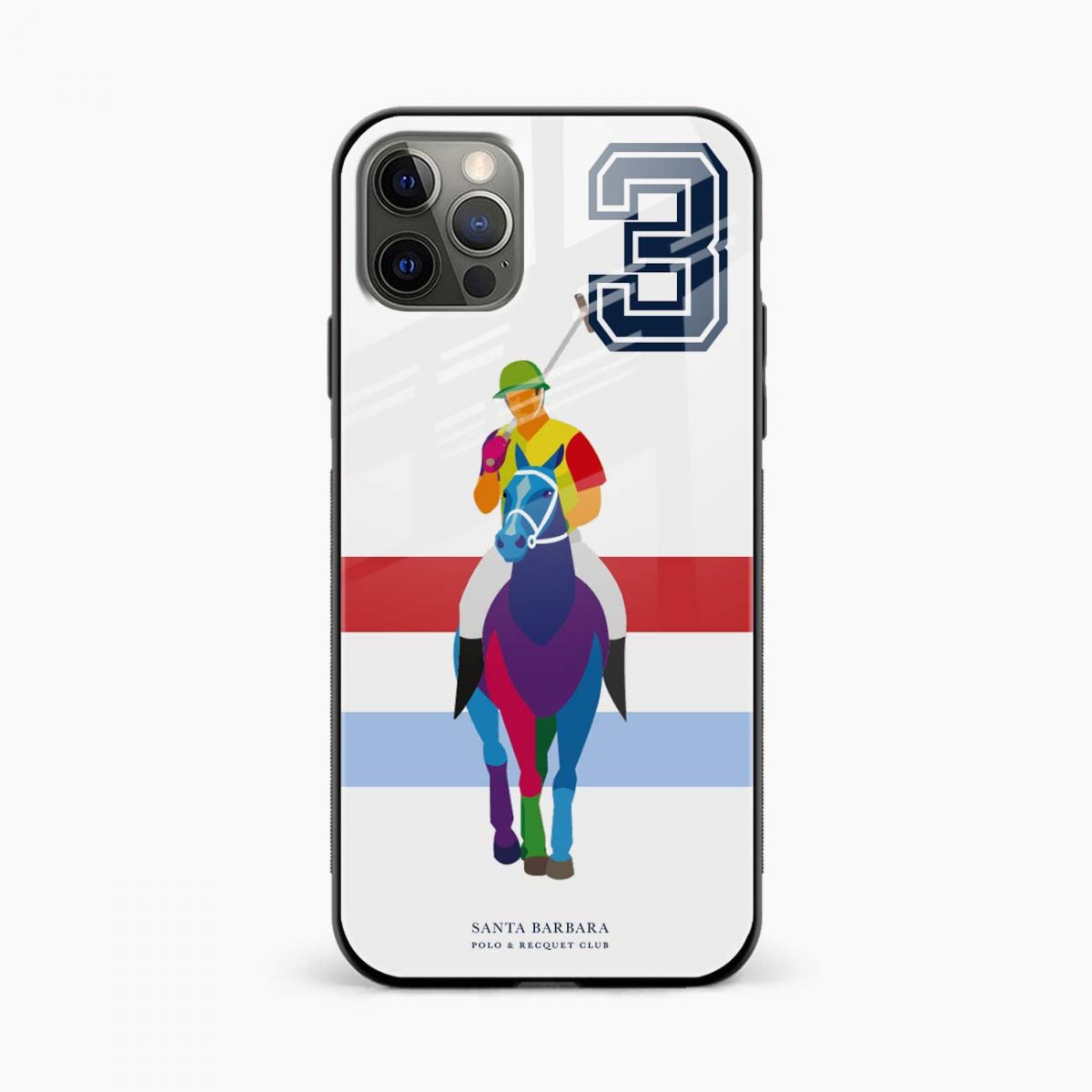 multicolor sant barbara polo iphone pro back cover front view