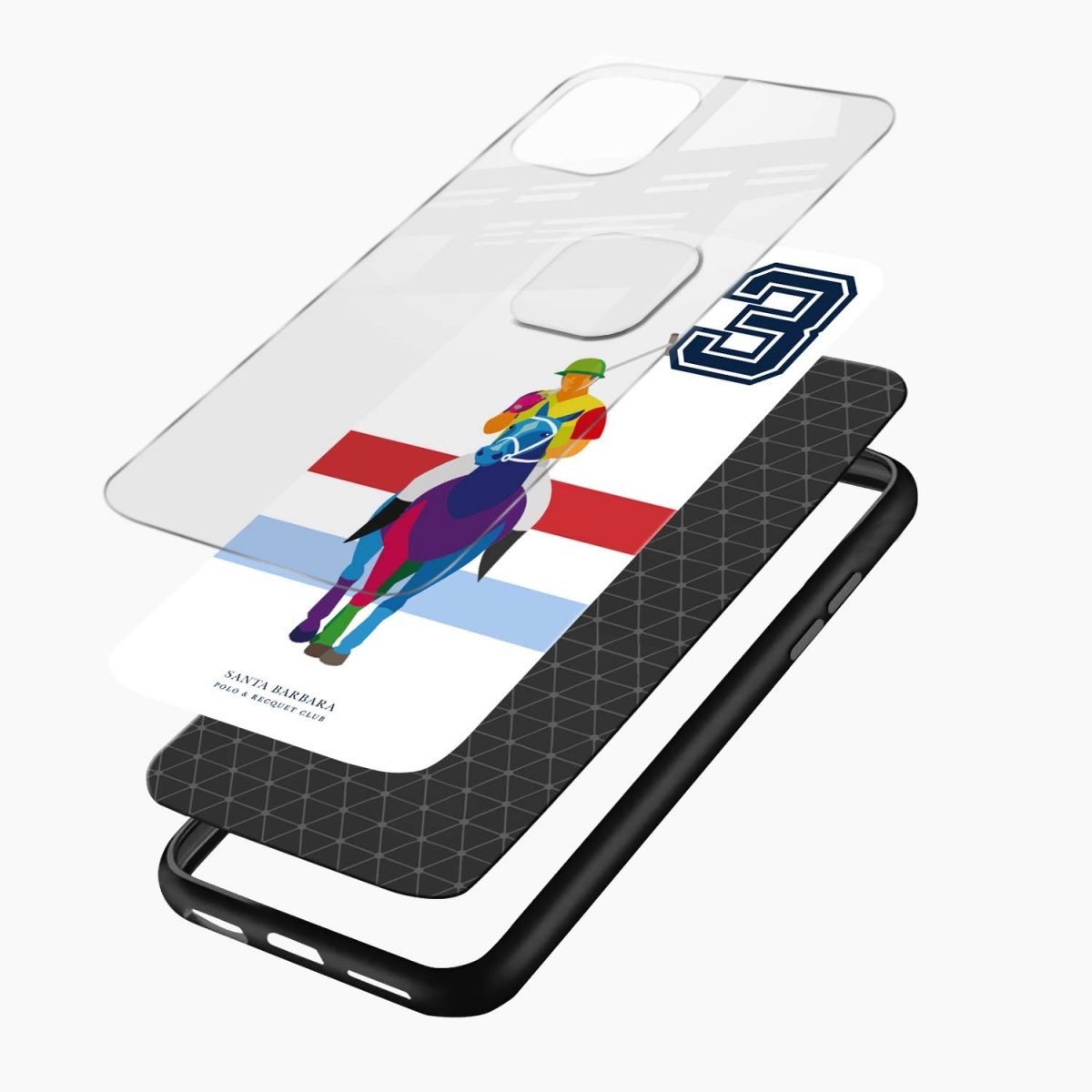 multicolor sant barbara polo iphone pro back cover layers view