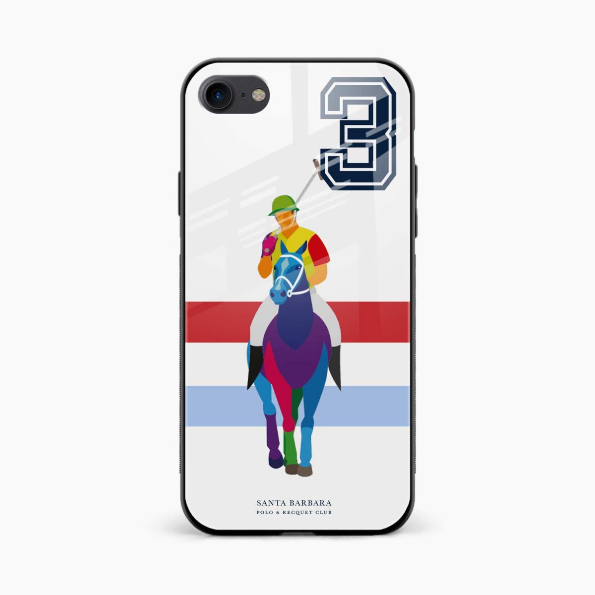 multicolor sant barbara polo front view apple iphone 6 7 8 se back cover