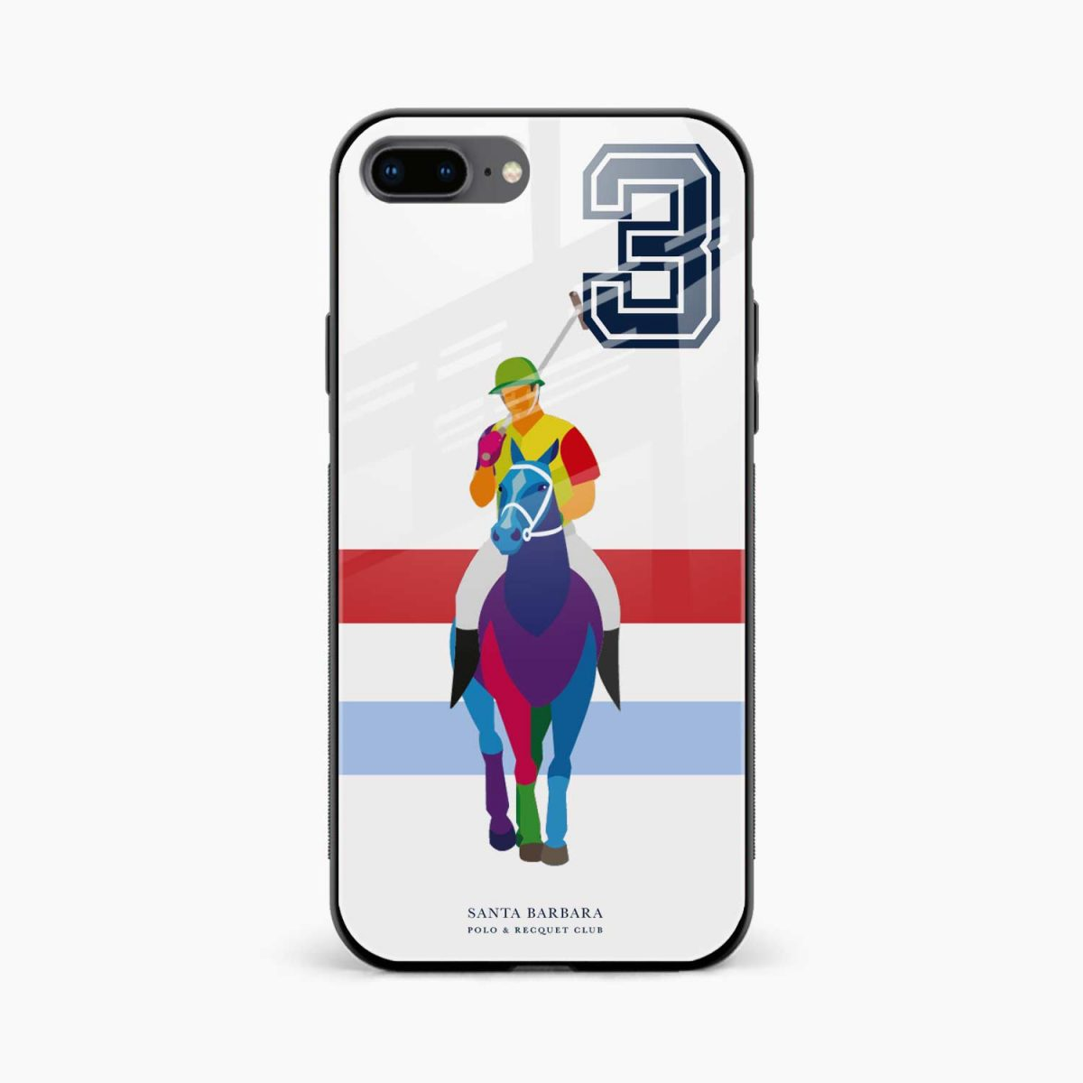 multicolor sant barbara polo front view apple iphone 7 8 plus back cover