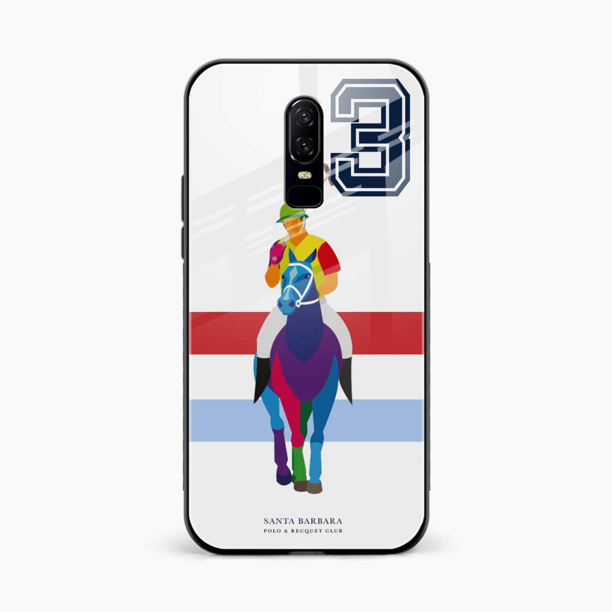 multicolor sant barbara polo front view oneplus 6 back cover