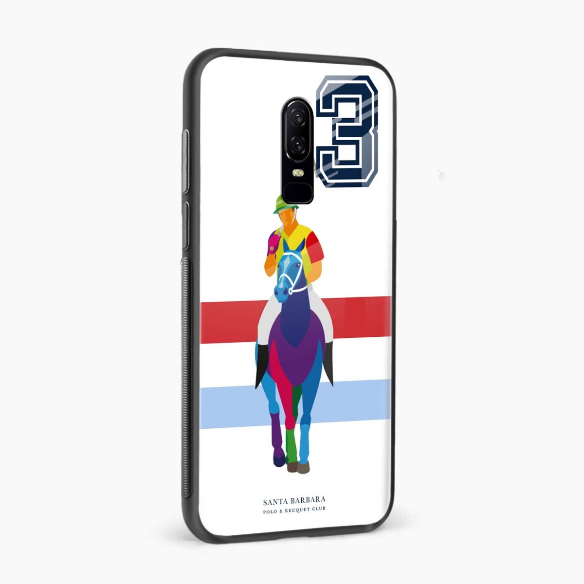 multicolor sant barbara polo side view oneplus 6 back cover