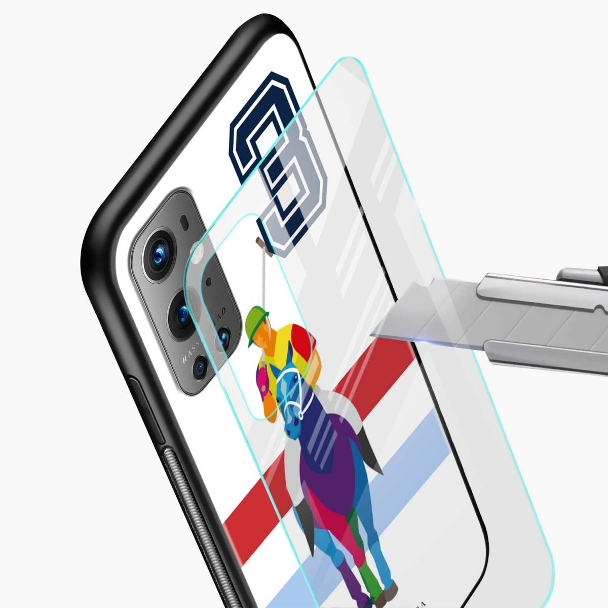 multicolor sant barbara glass view oneplus 9 pro back cover