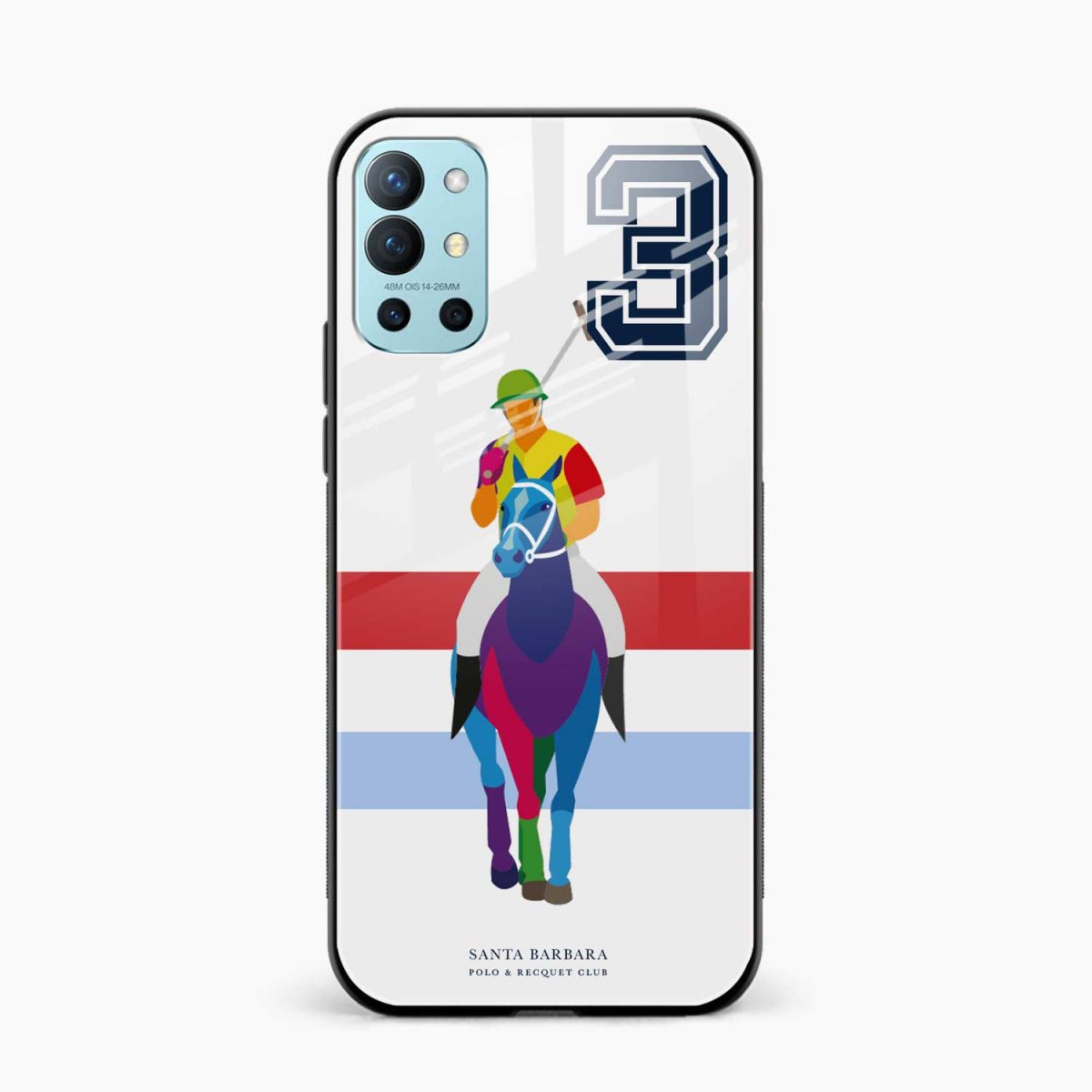 multicolor sant barbara front view oneplus 9r back cover