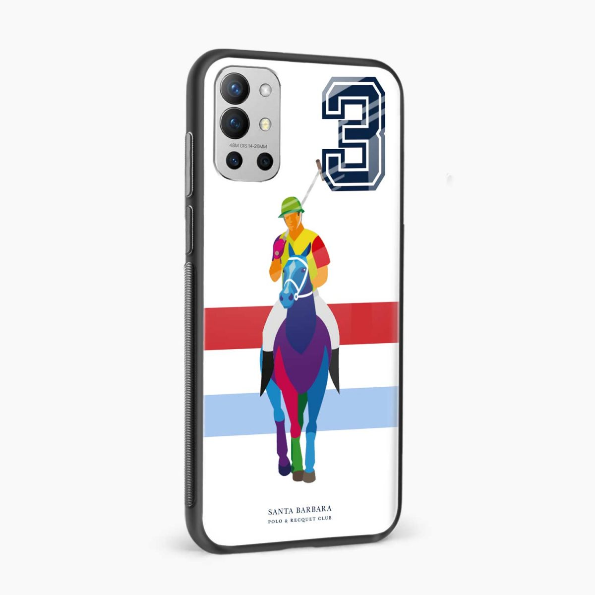 multicolor sant barbara side view oneplus 9r back cover