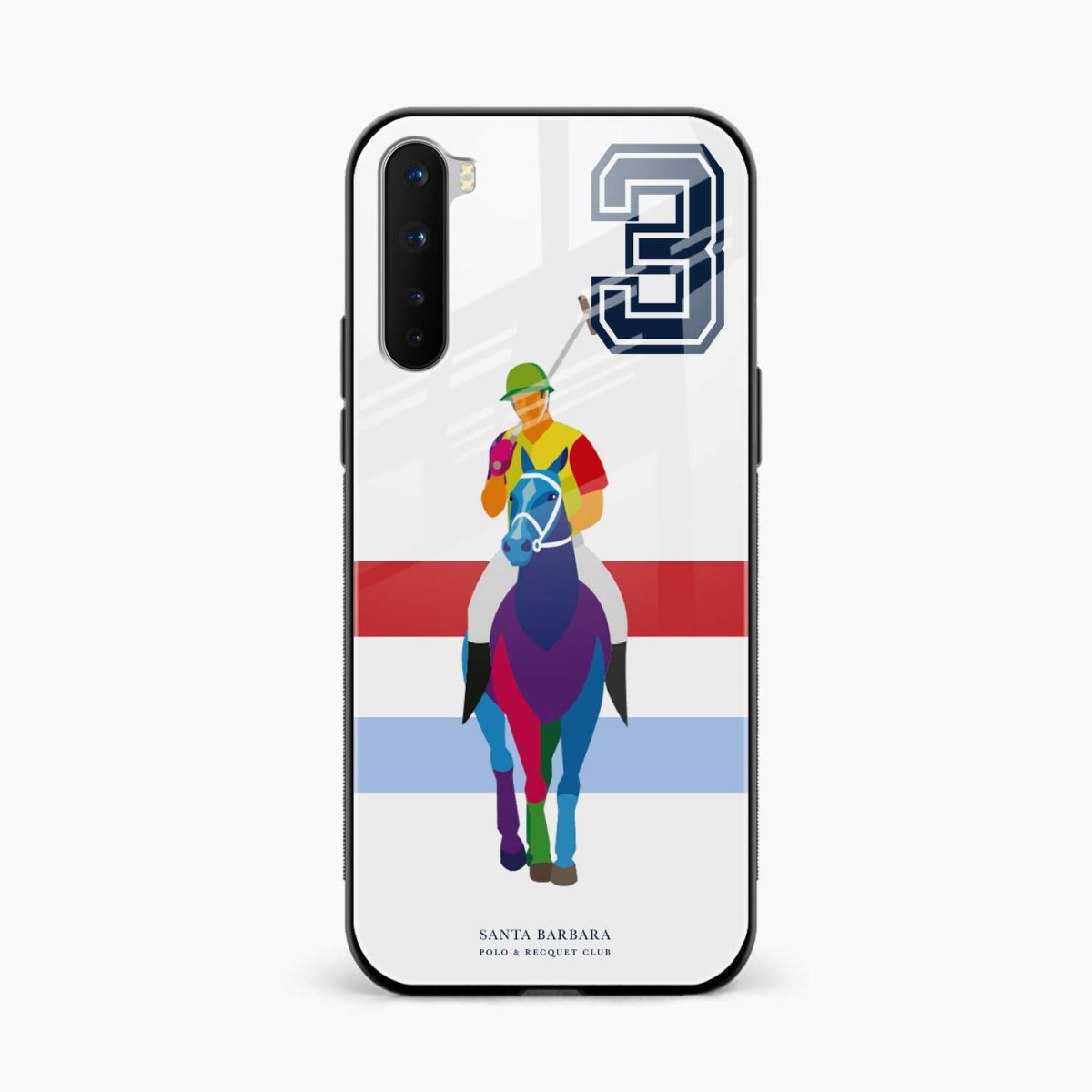 multicolor sant barbara front view oneplus nord back cover