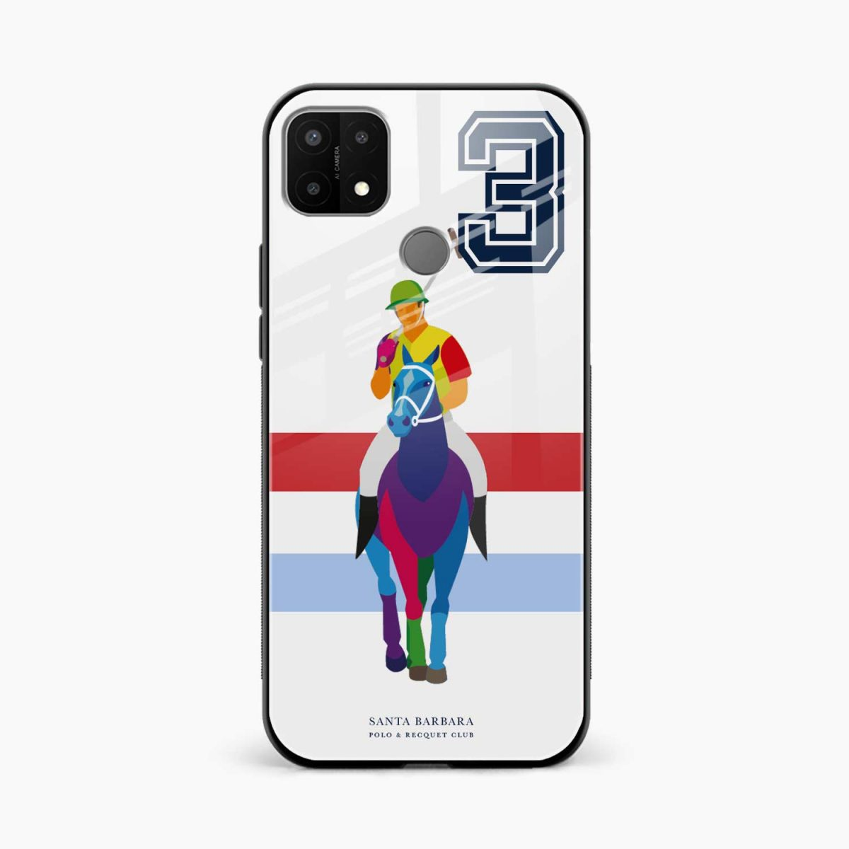 multicolor sant barbara front view oppo a15 back cover