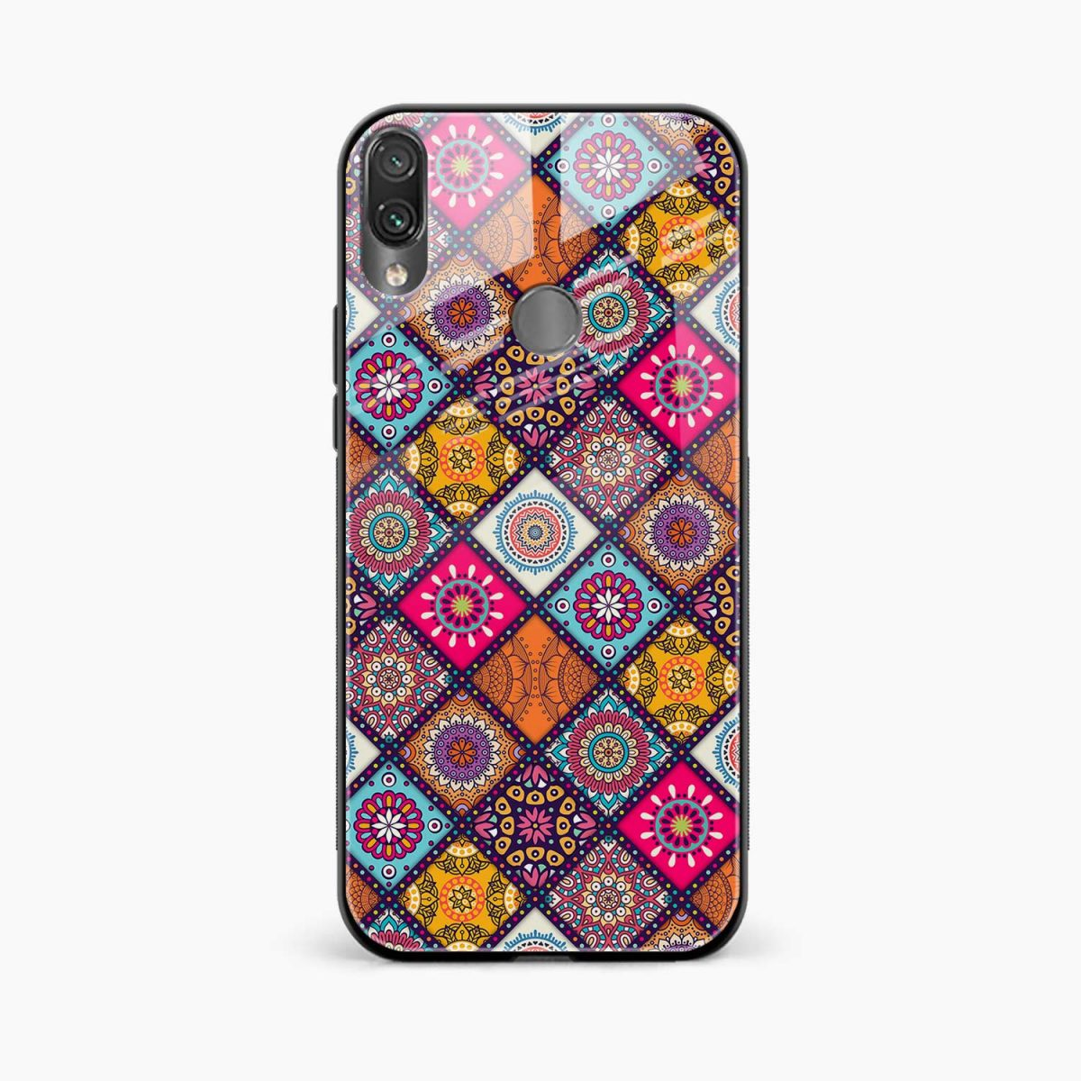 colorful rangoli front view redmi note 7 back cover