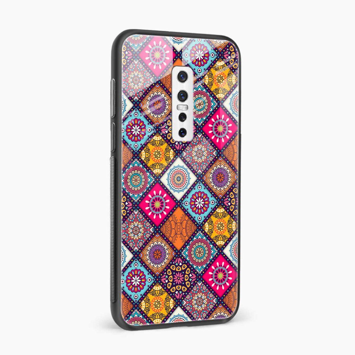 colorful rangoli side view vivo v17 plug back cover
