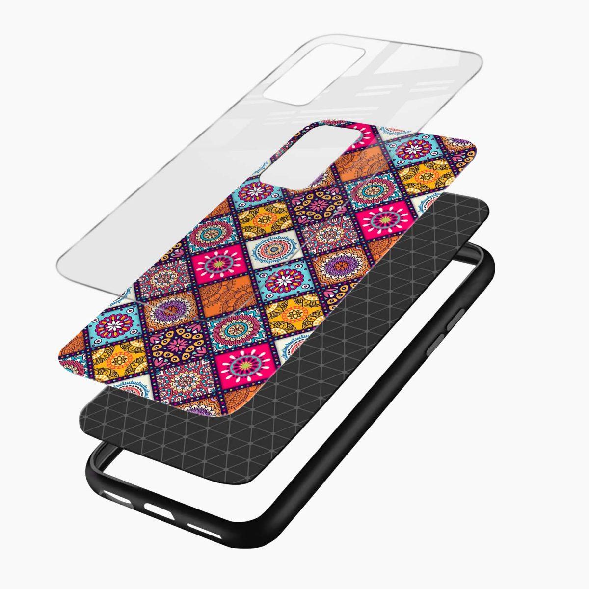 colorful rangoli xiaomi mi 10t pro back cover layers view