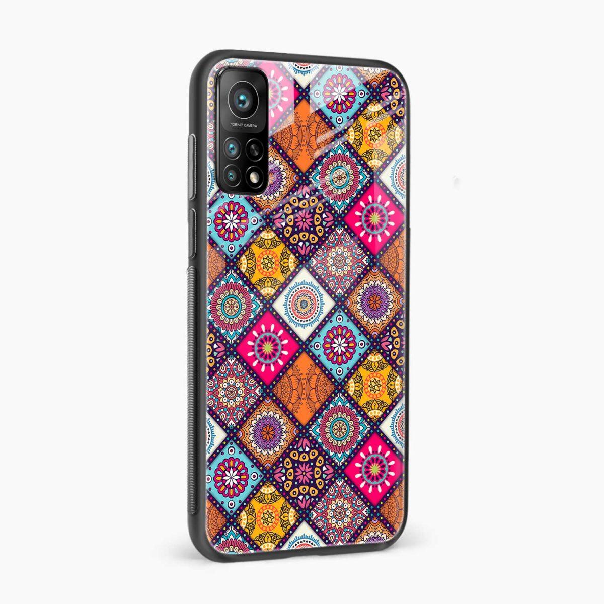colorful rangoli xiaomi mi 10t pro back cover side view