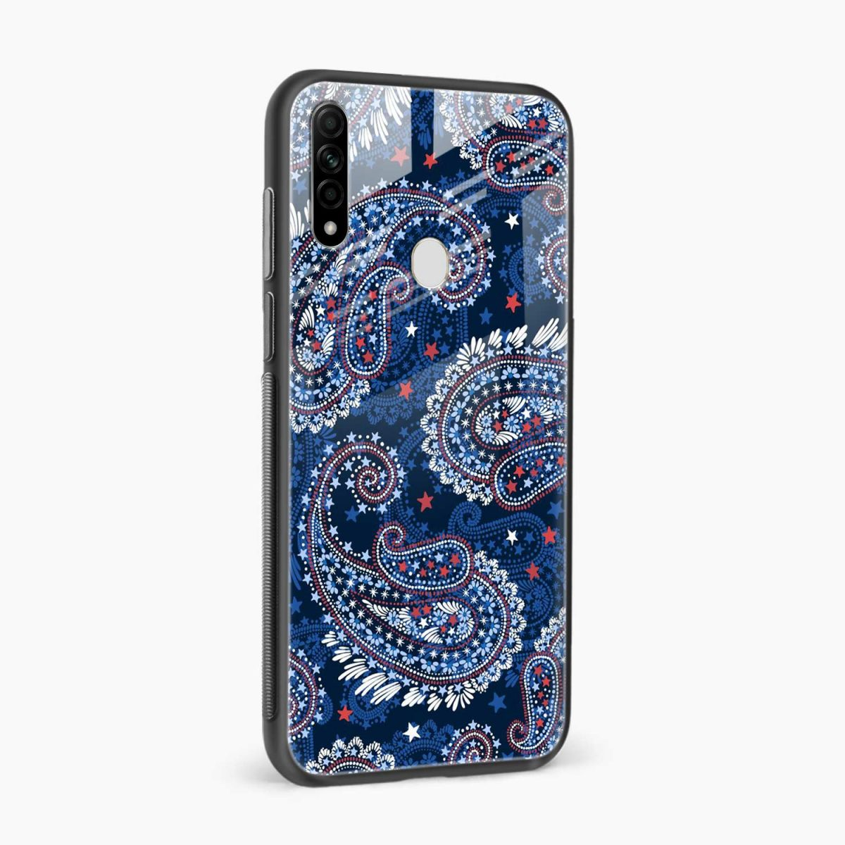 blue colored classical pattern side view oppo a31 back cover 1