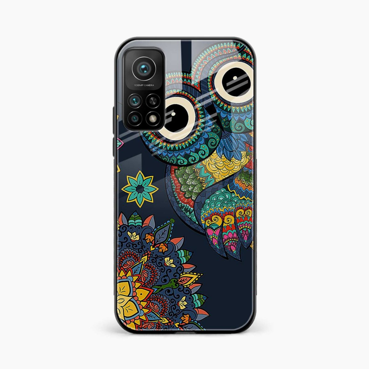 owl eyes xiaomi mi 10t pro back cover front view