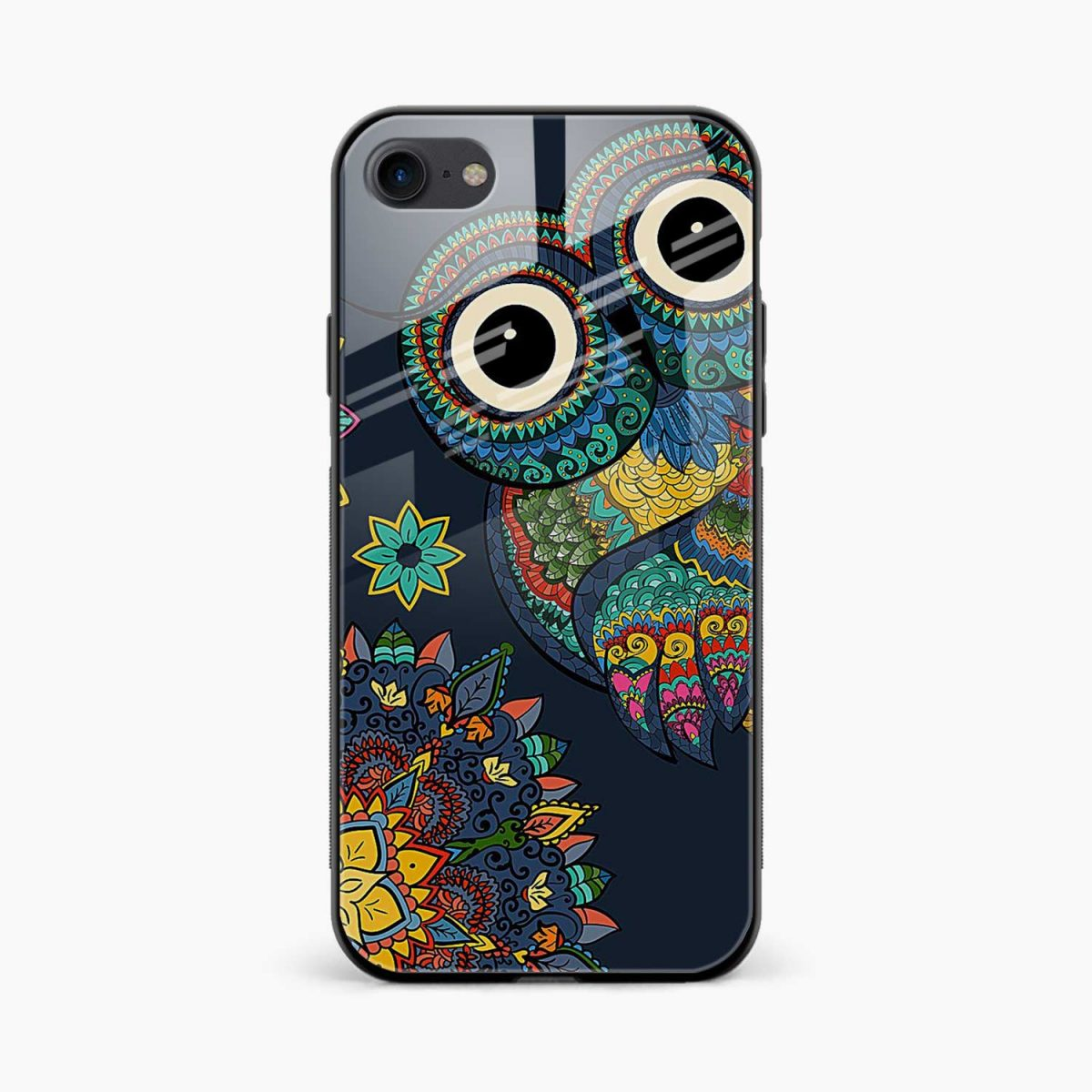 owl eyes front view apple iphone 6 7 8 se back cover