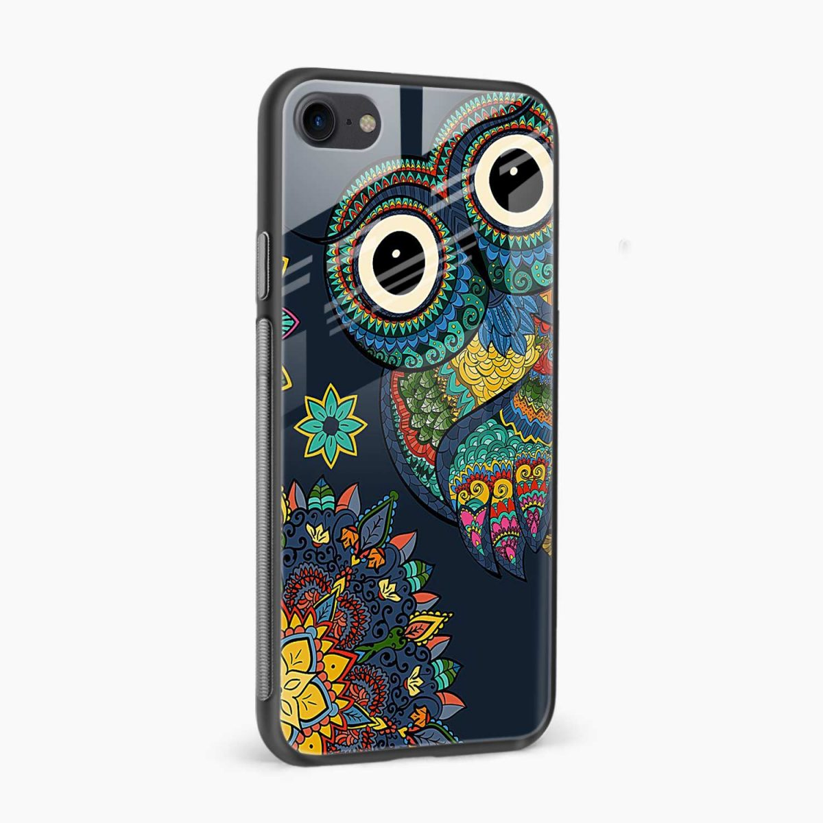 owl eyes side view apple iphone 6 7 8 se back cover