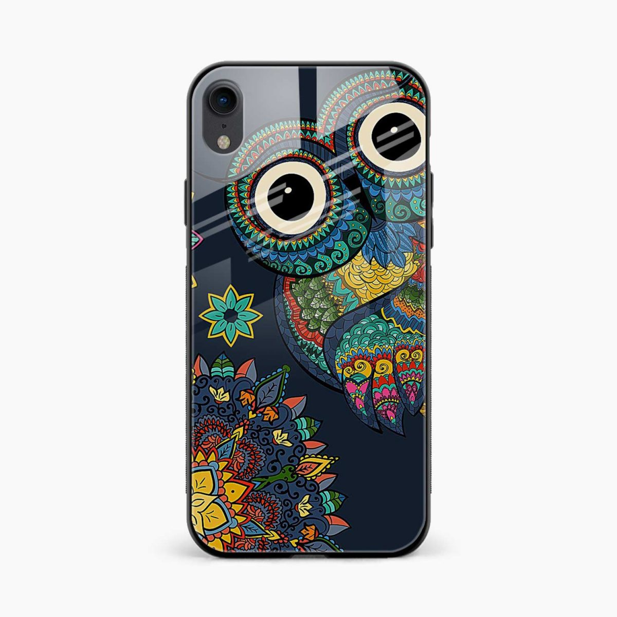 owl eyes apple iphone xr back cover front view
