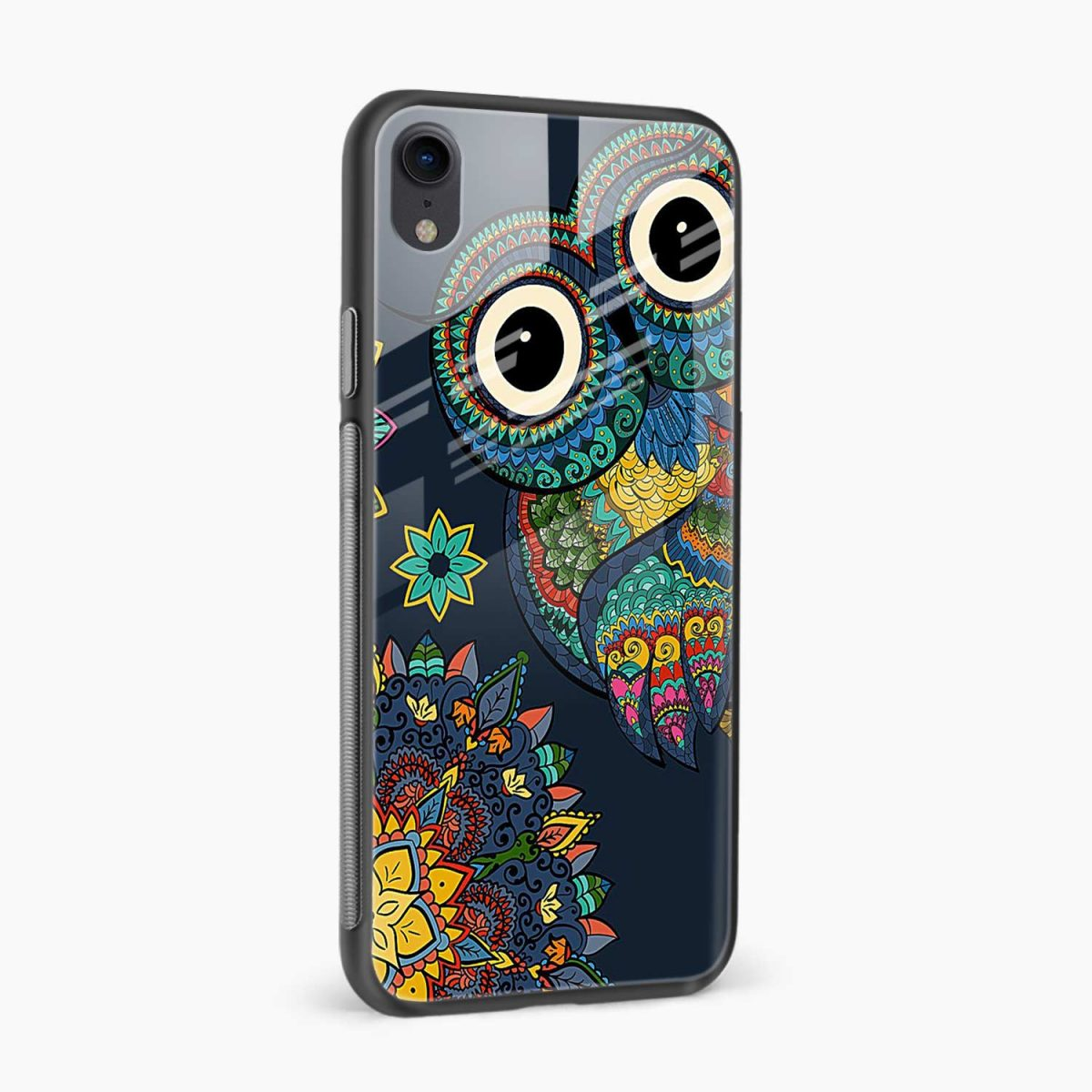 owl eyes apple iphone xr back cover side view