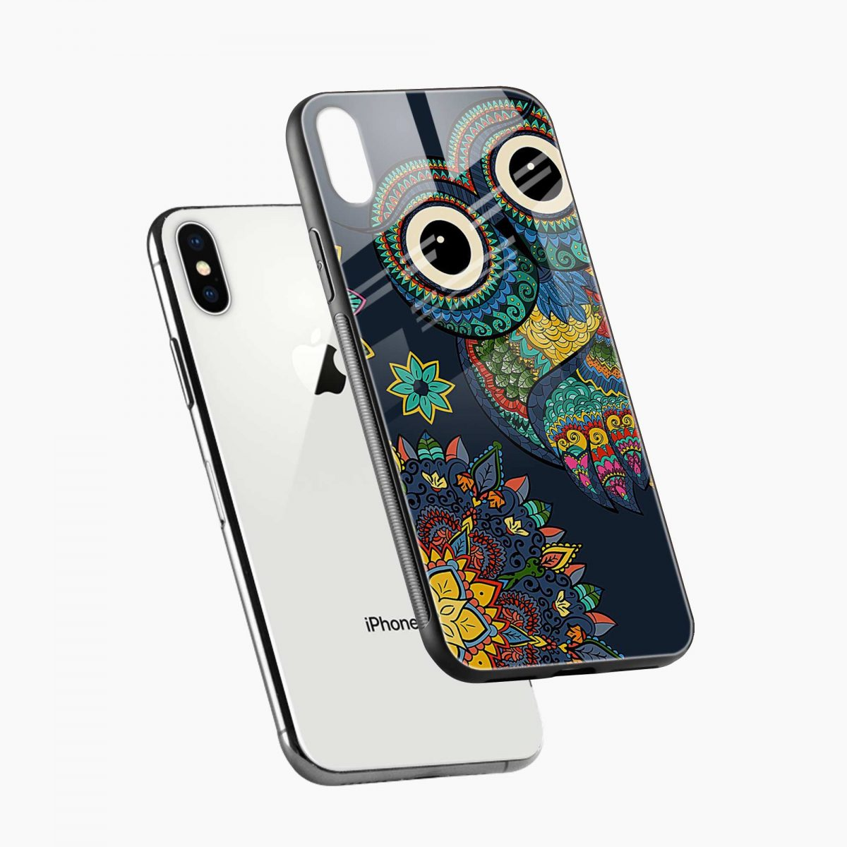 owl eyes diagonal view apple iphone x xs max back cover