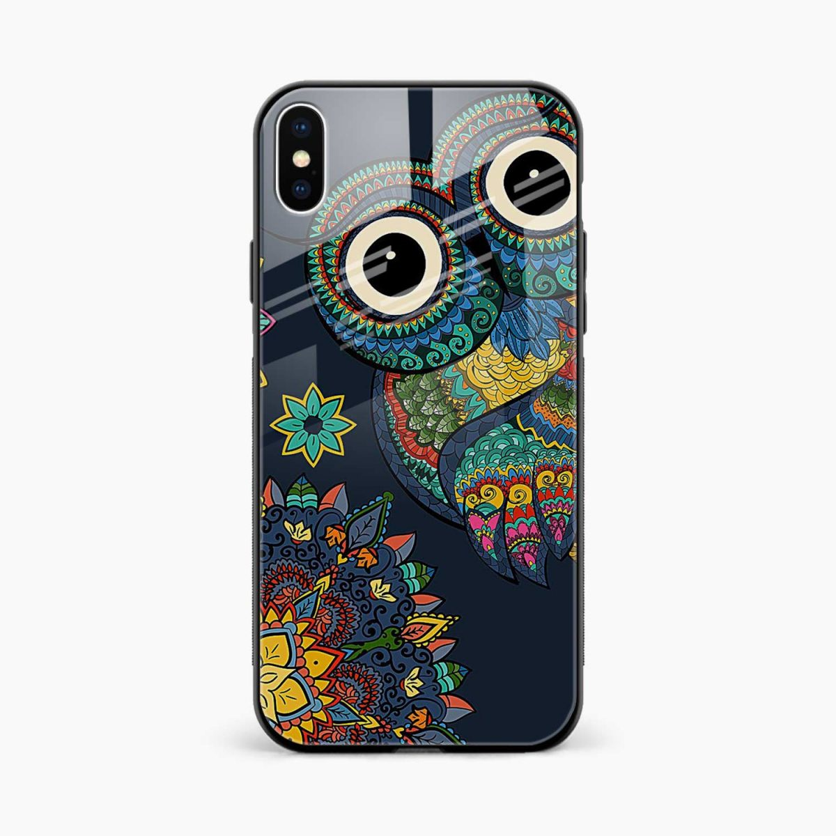 owl eyes front view apple iphone x xs max back cover