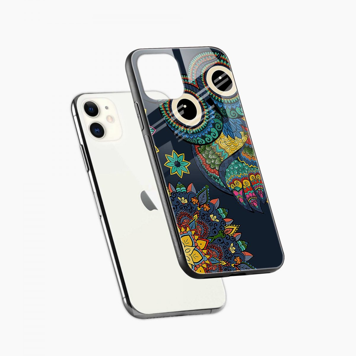 owl eyes iphone back cover diagonal view