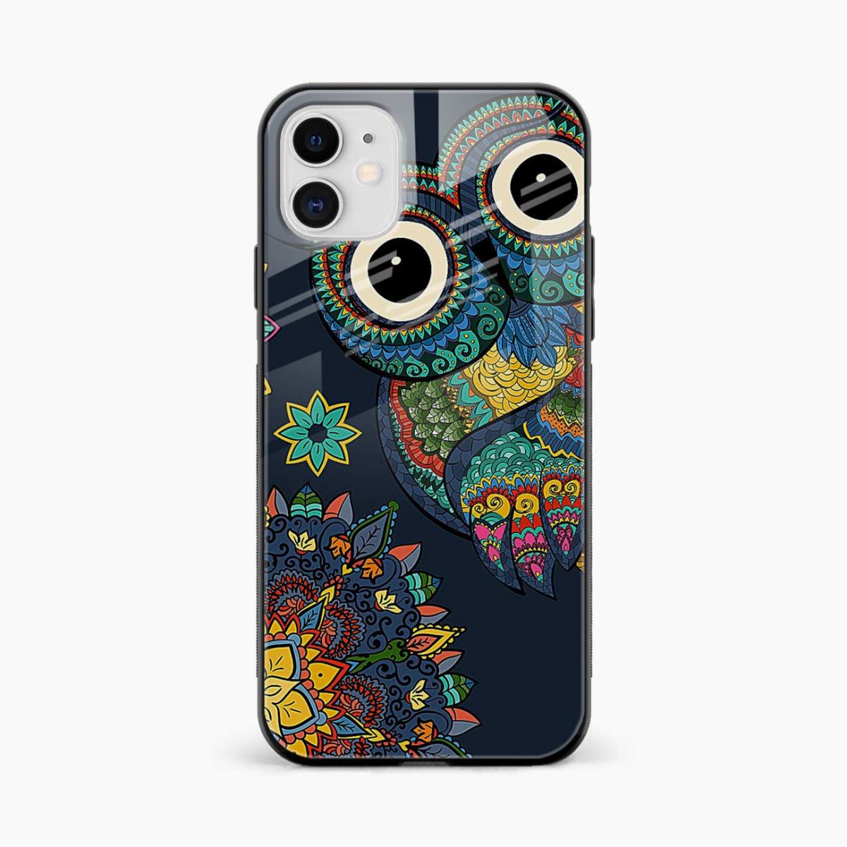 owl eyes iphone back cover front view
