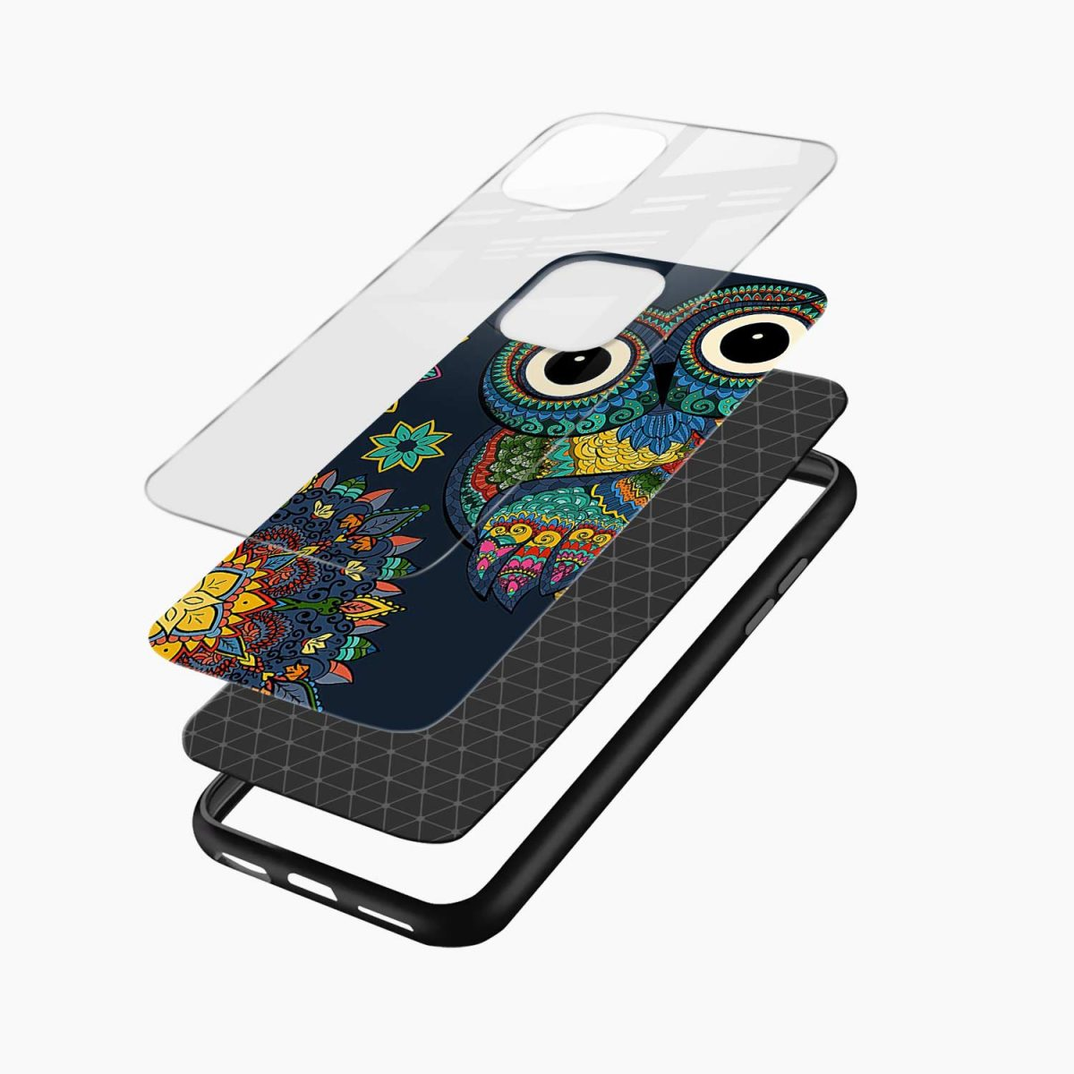 owl eyes iphone back cover layers view