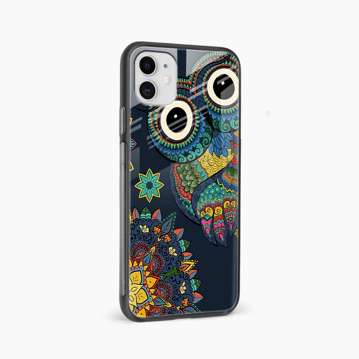 owl eyes iphone back cover side view