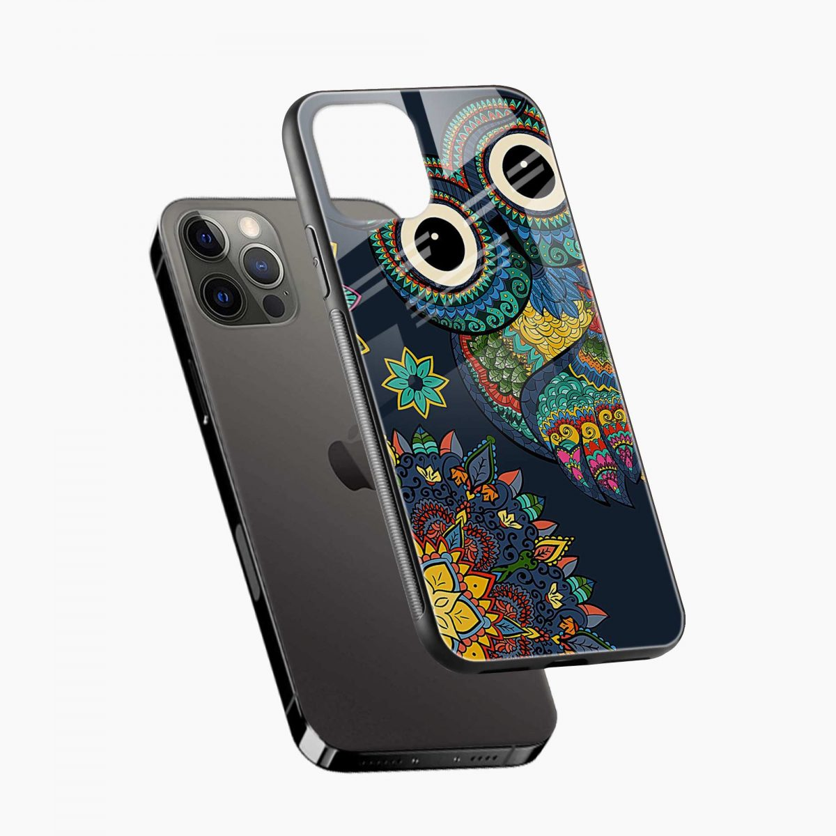 owl eyes iphone pro back cover diagonal view