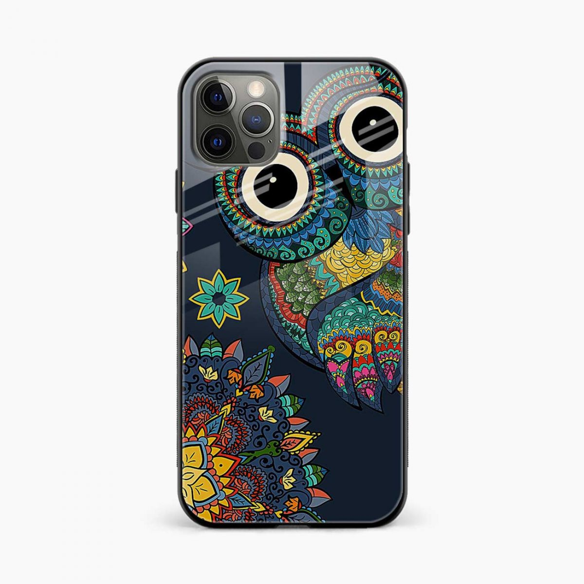 owl eyes iphone pro back cover front view