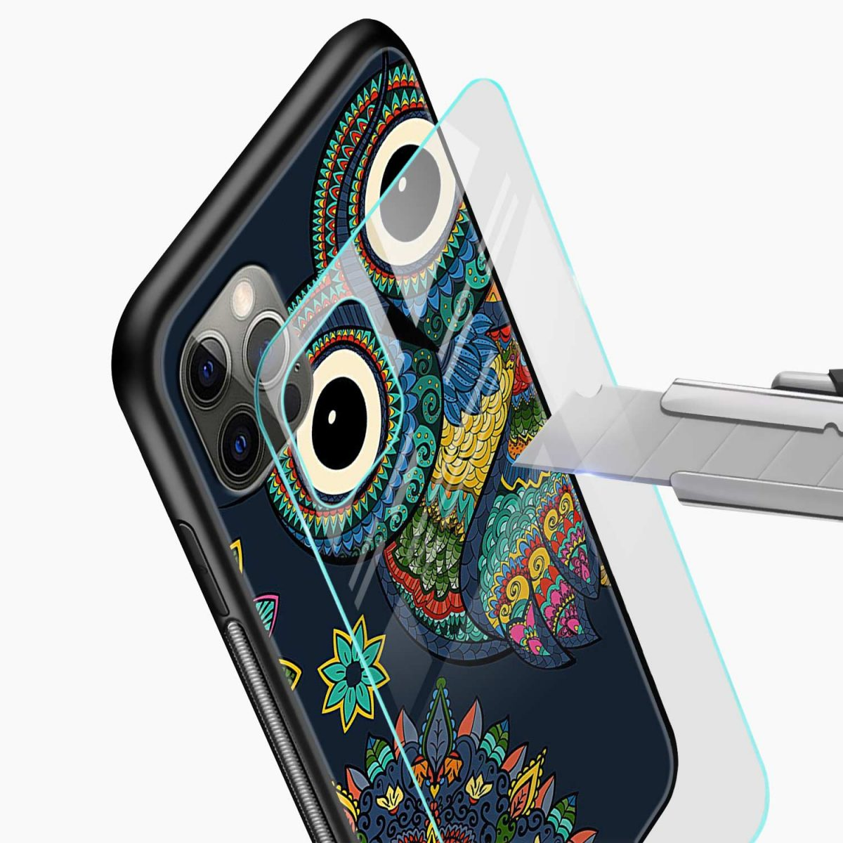 owl eyes iphone pro back cover glass view