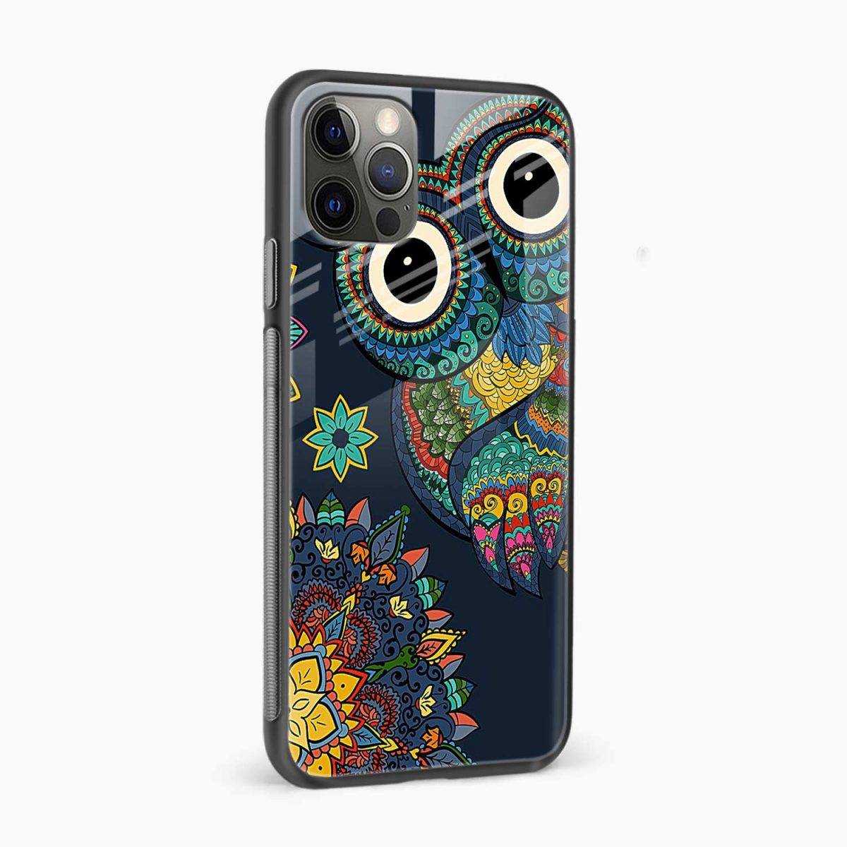 owl eyes iphone pro back cover side view