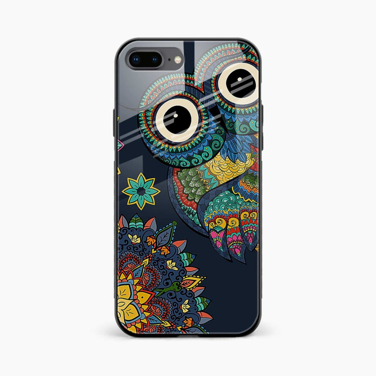 owl eyes front view apple iphone 7 8 plus back cover