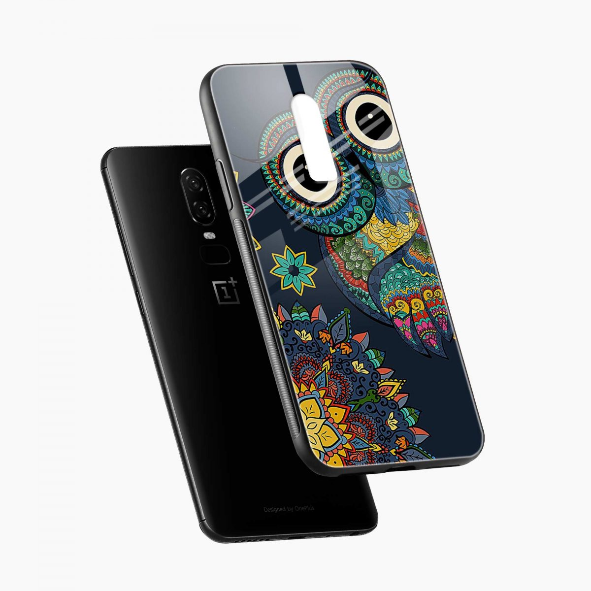 owl eyes diagonal view oneplus 6 back cover