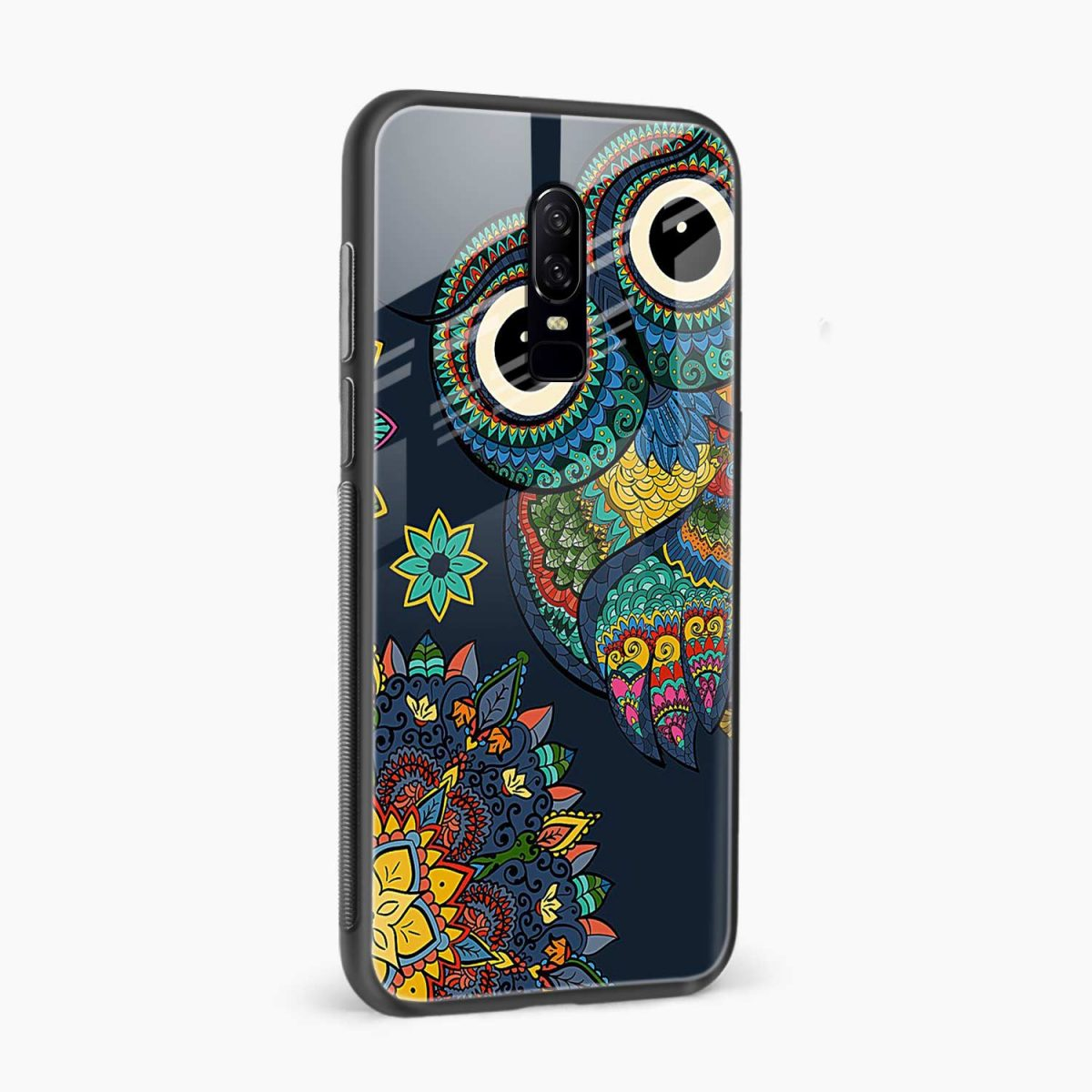owl eyes side view oneplus 6 back cover