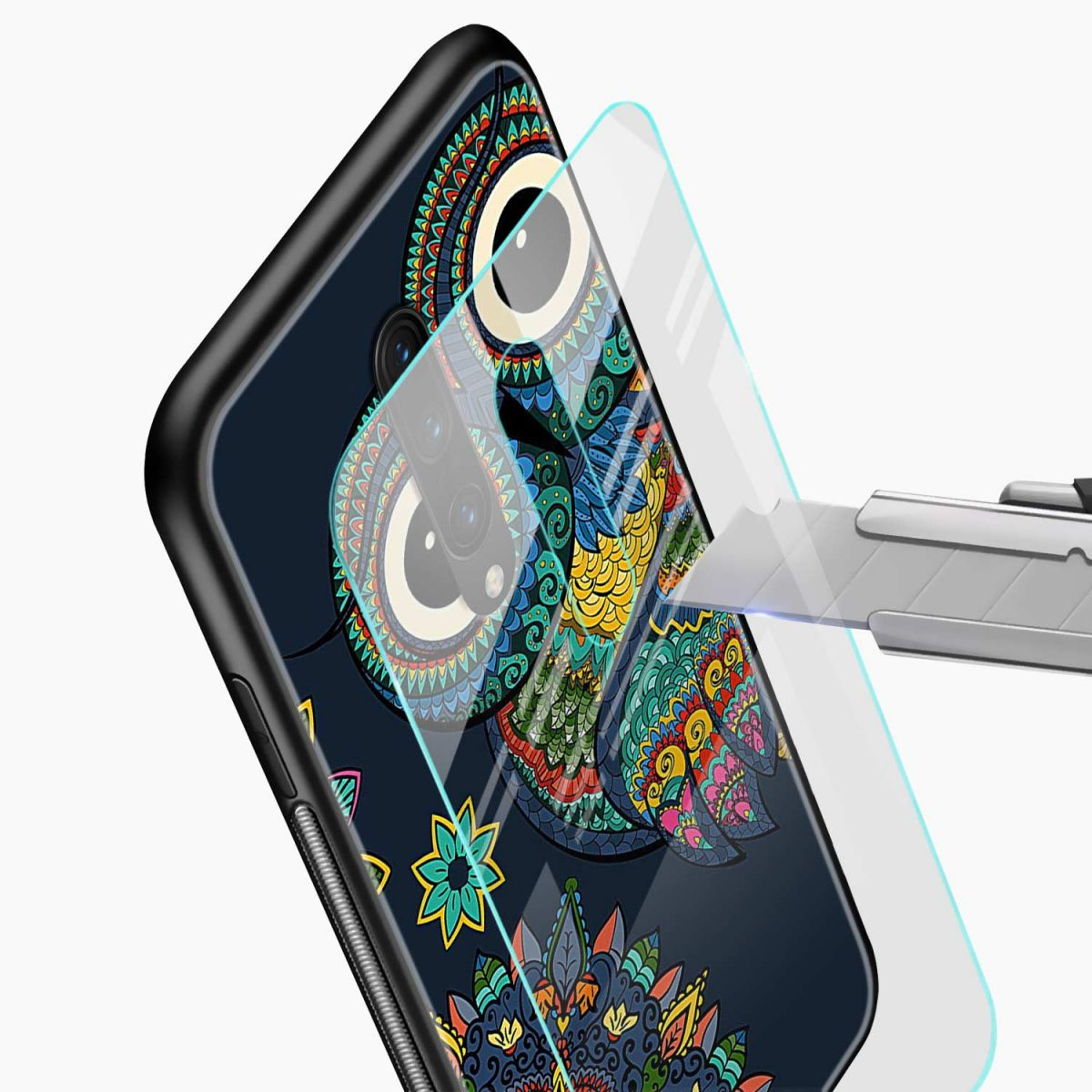 owl eyes glass view oneplus 7 pro back cover