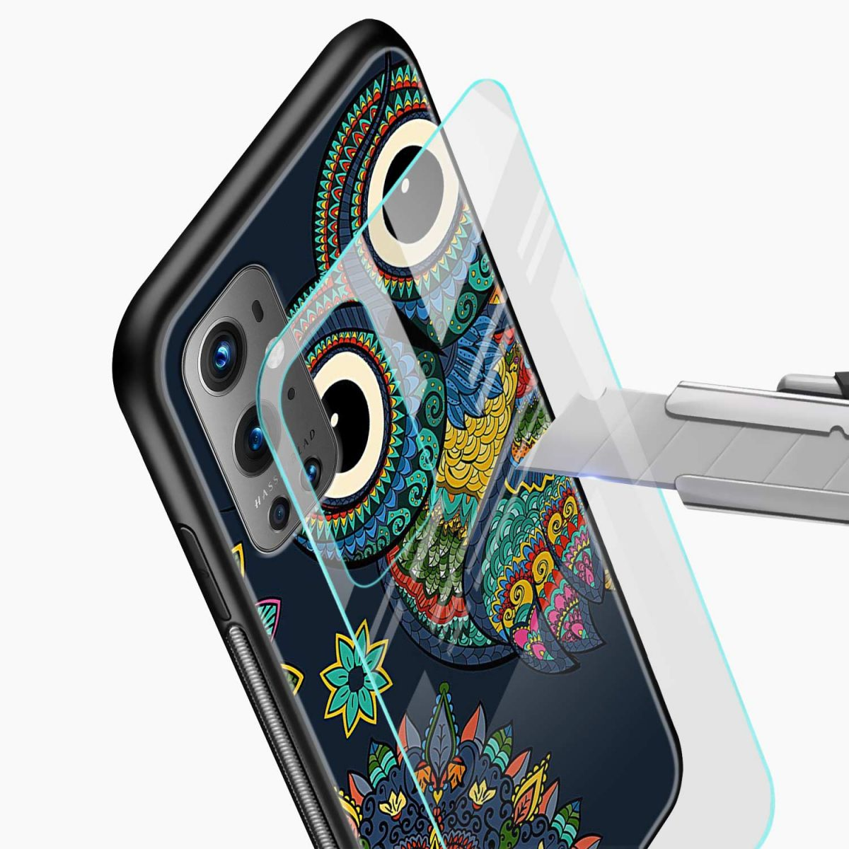 owl eyes glass view oneplus 9 pro back cover