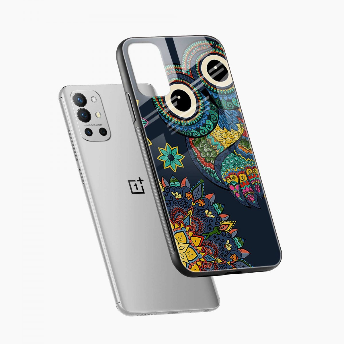 owl eyes diagonal view oneplus 9r back cover