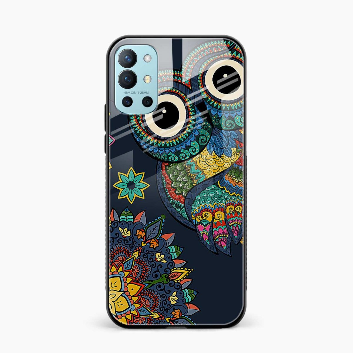 owl eyes front view oneplus 9r back cover
