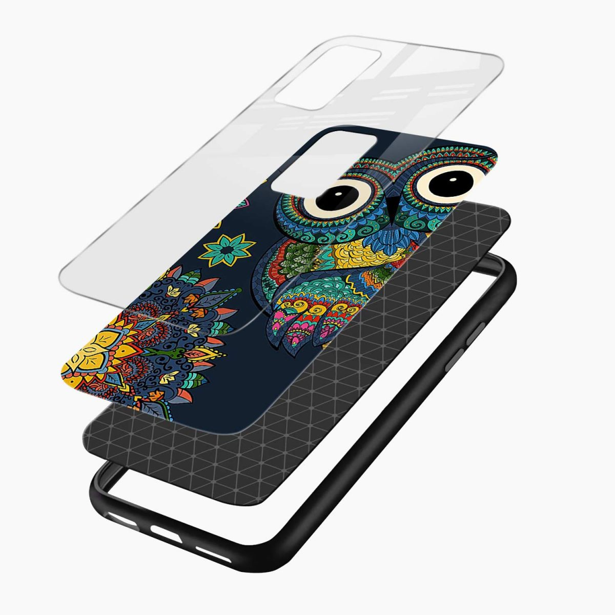 owl eyes layers view oneplus 9r back cover