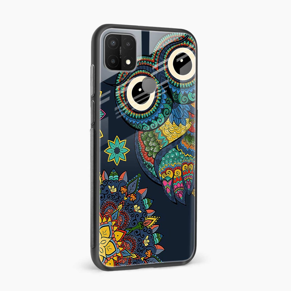owl eyes side view oppo a15 back cover