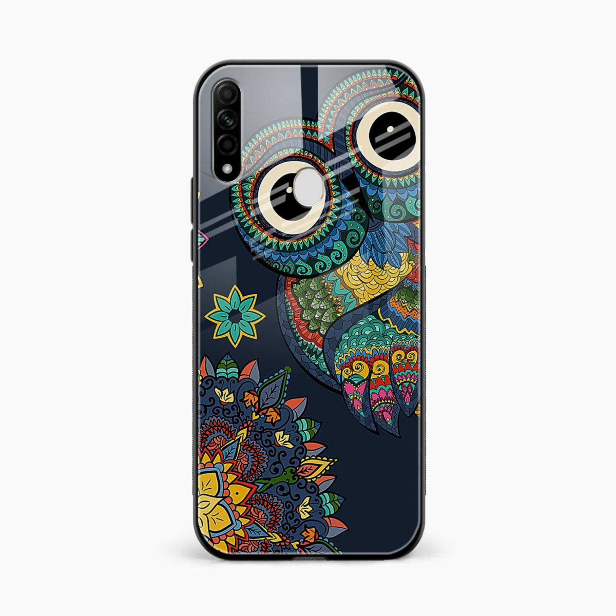 owl eyes front view oppo a31 back cover
