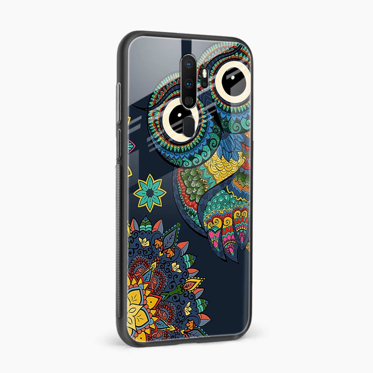 owl eyes side view oppo a5 back cover