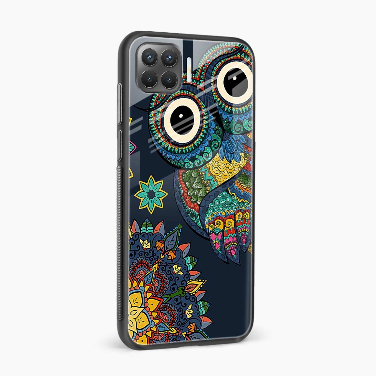 owl eyes side view oppo f17 pro back cove