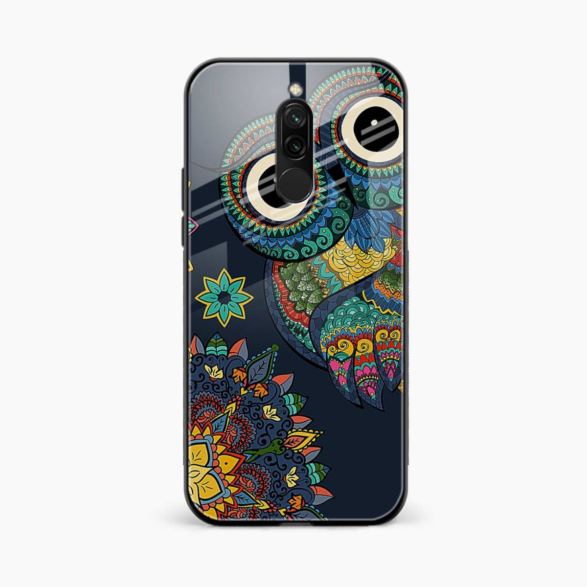 owl eyes front view redmi 8 back cover